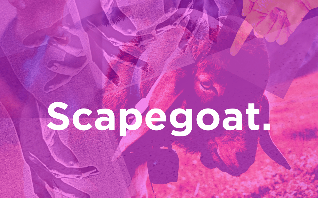 How Scapegoating Gets Inserted into Your Psyche… and How to Break Free For Good.